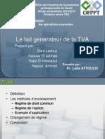 Le Fait Generateur de La TVA