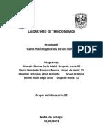 Práctica 7 Laboratorio de Termodinámica