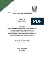 Práctica 8 Laboratorio de Termodinámica