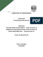 Práctica 10 Laboratorio de Termodinámica