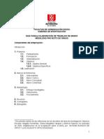 Guia Formulacion Proyecto de Grado 2014