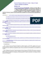 Reglamento Nacional Transito 2012