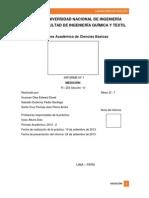 Informe de laboratorio N°1