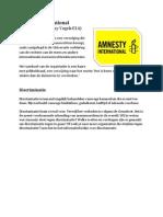 amnesty international discriminatie