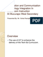Information and Communication Technology Integration in Classroom Instruction
