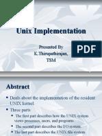 Unix Implementation