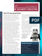 ASD Cyber Security Bulletin 2013 12