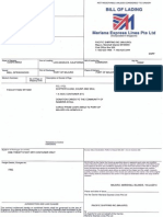 Bill of Lading LAXM02595