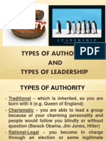 types of leadership  authority