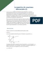 Practicas de Matlab. Solución Numérica de Ecuaciones Diferenciales