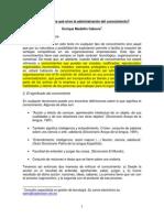 Qué Es y Para Qué Sirve La Administración Del Conocimiento. Autor - Enrique Medellín