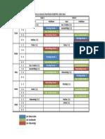 Jadwal Kuliah & Praktikum Semester 2