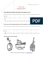 Traceable Alphabet Letter y