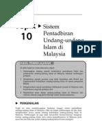 Topik 10 Sistem Pentadbiran Undang Undang Islam Di Malaysia