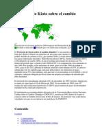1.1 Protocolo de Kioto Sobre El Cambio Climático