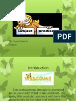 Subject and Predicate Modulo