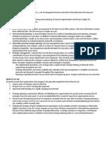 Strategic Management Outline