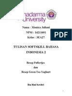 Tulisan Bebas Bahasa Indonesia 2 - Resep Poffertjes Dan Green Tea Yoghurt
