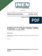 NORMA INEN  - DETERMINACION DEL BROMATO DE POTASIO EN HARINAS BLANQUEADAS Y EN HARINA INTEGRAL.pdf