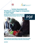Examining Factors Associated with Stunting in Lower Egypt in Comparison to Upper Egypt
