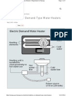 Instantaneous Water Heater Study
