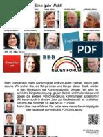2014-04 Neues Forum Leipzig zur Wahl