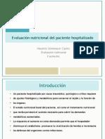 Evaluacion Nutricional en El Paciente Hospitalizado