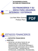 Estados Financierso y Su Importancia