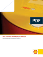 Shell Lubricants 2012 Product Catalogue
