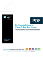 UTest Whitepaper the Essential Guide to IOS App Testing