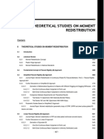 Moment Redistribution Theoretical Studies