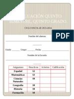5° GRADO, EXAMEN QUINTO BIMESTRE..doc