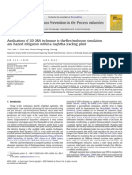 Applications of 3D QRA Technique to the Fire-explosion Simulation and Hazard Mitigation Within a Naphtha-cracking Plant