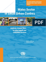 Water Sector in Small Urban Centres