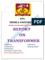 Apg Jitendra Report on Tranformer (Repaired)