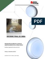 Informe Técnico Final Reparación de Poza Presa Cirato