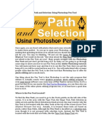 Creating Path and Selection Using Photoshop Pen Tool