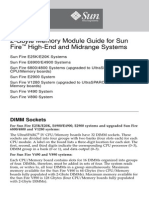 8. 2-Gbyte Memory Module Guide for Sun Fire High-End and Midrange Systems