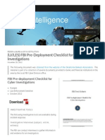 (U__LES) FBI Pre-Deployment Checklist for Cyber Investigations _ Public Intelligence