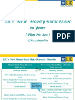 money back plan 820-20 yrs