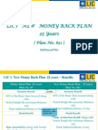 money back plan 821-25 yrs
