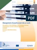 Esener Psychosocial Risks