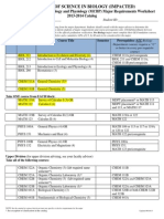 Molecular Cell Biology and Physiology Worksheet 2013