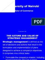 Nature and Value of Strategic Management Bcom DBA 401 (2)