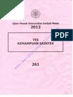 UM UGM 2013 IPA Kode 261