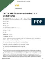 251 US 385 Silverthorne Lumber Co V