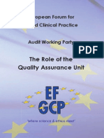 The Role of the Quality Assurance Unit-website