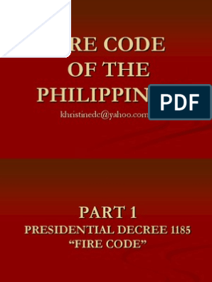 Fire Code-Philippines | Stairs | Fires