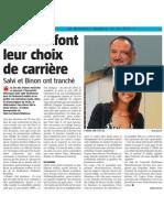 La Nouvelle Gazette - Les Élus Font Leur Choix de Carrière - 18.06.14