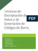 Encriptacion de Datos y Codigo de Barras